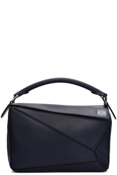 Loewe - Navy Small Puzzle Bag