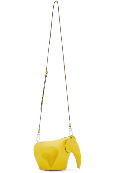 Loewe - Yellow Mini Elephant Bag