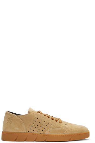 Loewe - Beige Suede Sneakers