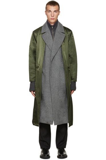 Toga Virilis - Green Nylon Layered Coat