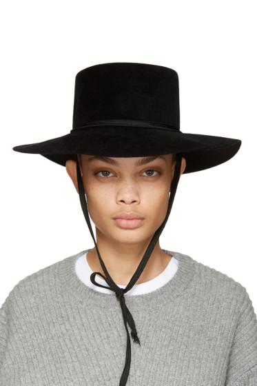 Clyde - Black Felt Gaucho Hat