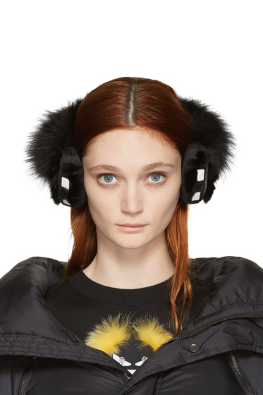 Fendi - Black Karlito Ear Muffs