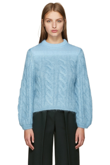 Fendi - Blue Mohair Degrade Sweater