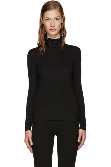 Fendi - Black Ribbed Turtleneck