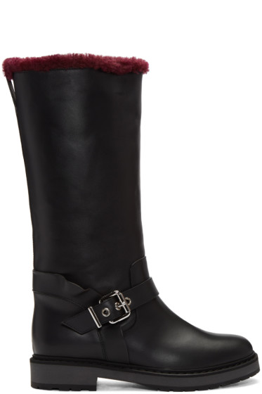 Fendi - Black Sheepskin Waves Boots