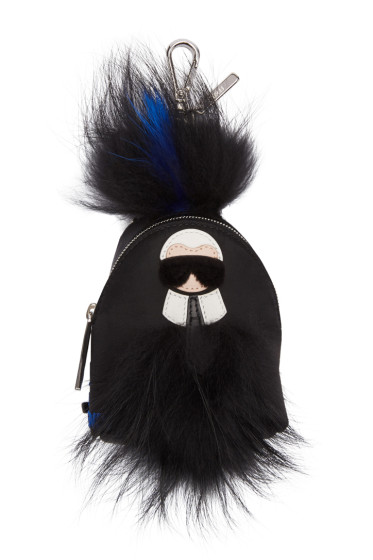 Fendi - Black Mini Karlito Backpack Keychain