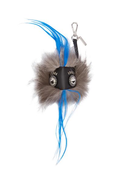 Fendi - Grey Bag Bugs Keychain
