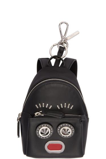 Fendi - Black Mini Backpack Keychain