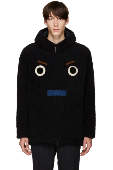 Fendi - SSENSE Exclusive Black Shearling Coat