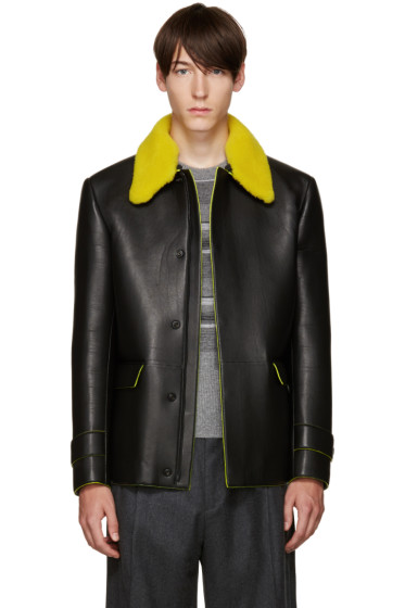 Fendi - Black Shearling Collar Jacket