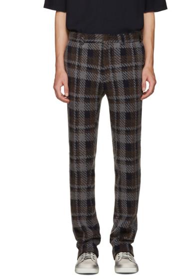 Fendi - Grey Check Runway Trousers