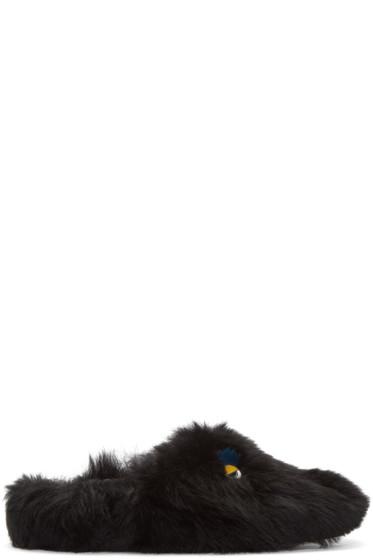 Fendi - Black Monster Eyes Loafers
