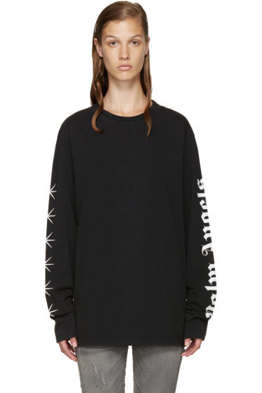 Palm Angels - SSENSE Exclusive Black Logo T-Shirt