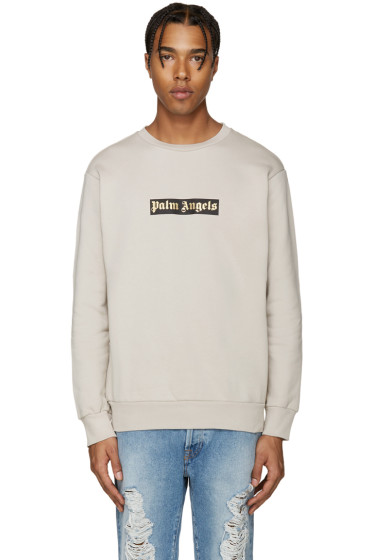 Palm Angels - Beige Logo Sweatshirt