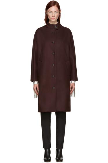 Aalto - Burgundy Dropped Shoulder Coat