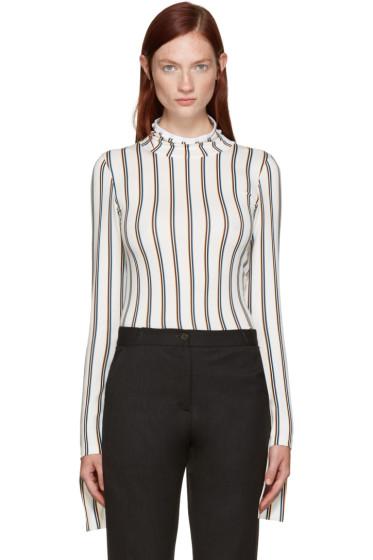 Aalto - White Striped Turtleneck