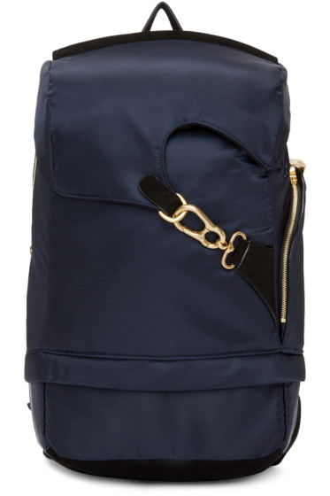 Wooyoungmi - Navy Buckle Backpack