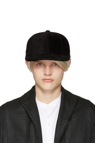 Attachment - Black Faux-Fur Cap