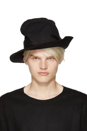 Attachment - Black Creased Hat