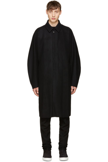 Attachment - Black Wool Long Coat