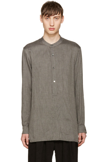 Attachment - Grey Twill Tunic Shirt