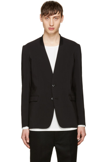 Attachment - Black No Lapel Blazer