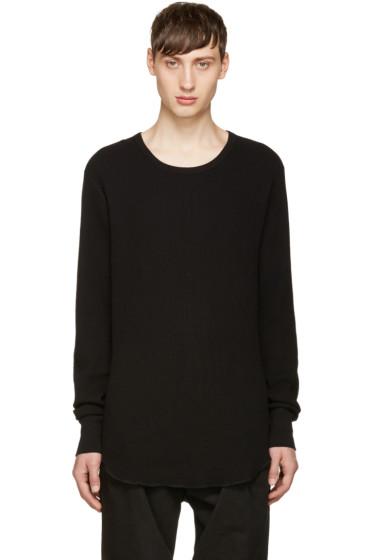 Attachment - Black Waffle Knit T-shirt