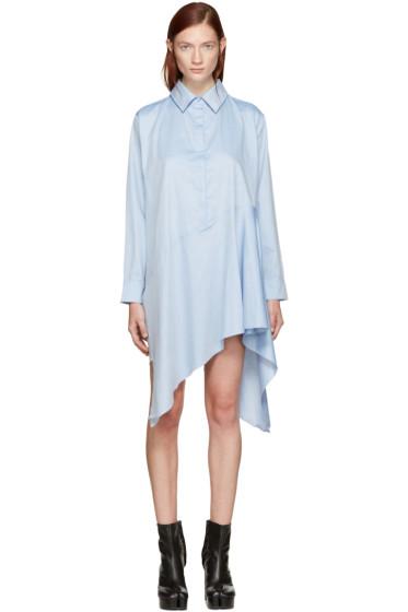 Marques Almeida - Blue Asymmetric Shirt Dress