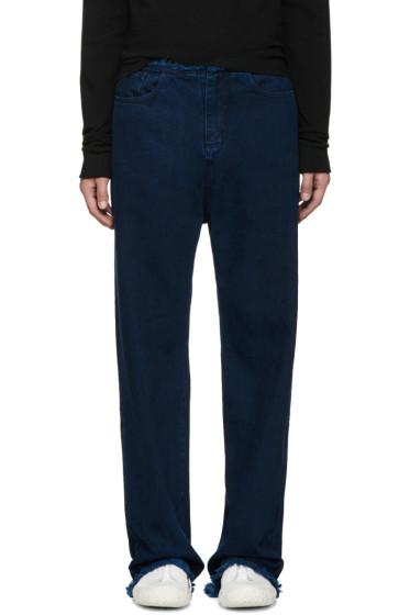 Marques Almeida - Indigo Frayed Jeans