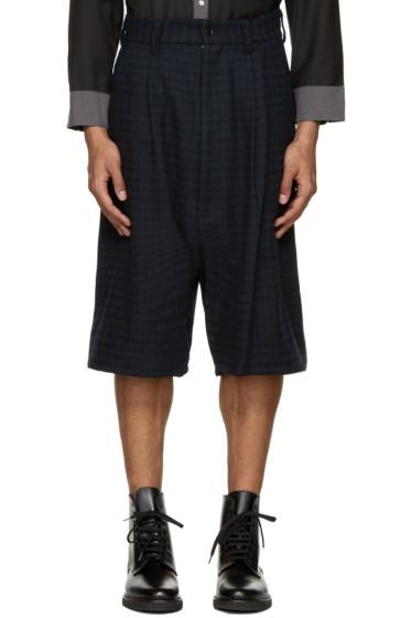 Kidill - Blue Check Tuck Shorts