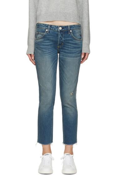 Amo - Blue Tomboy Crop Jeans