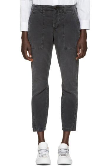 Amo - Black Army Twist Trousers