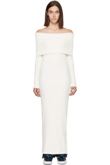 Atea Oceanie - Ivory Foldover Dress