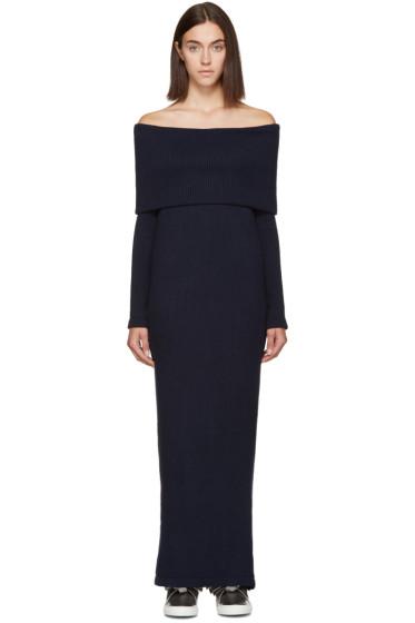 Atea Oceanie - Navy Foldover Dress