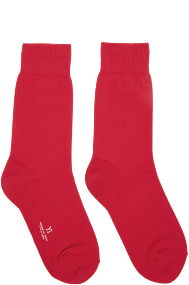 Y's - Red Solid Socks