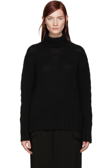 Y's - Black Turtleneck Sweater