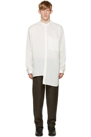 Isabel Benenato - White Collarless Shirt