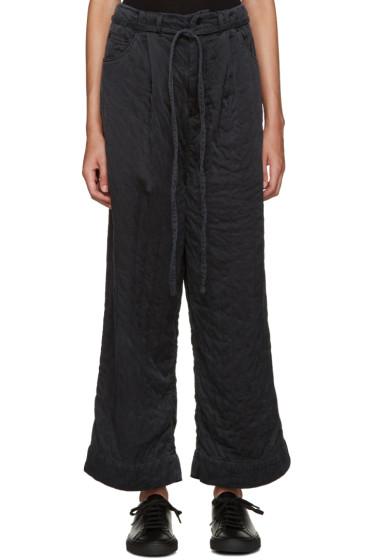 Craig Green - Black Silk Wide-Leg Trousers