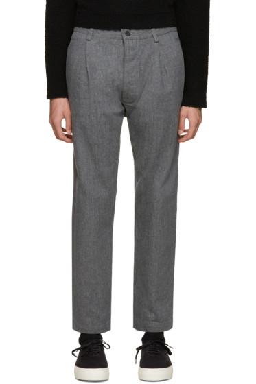 Sunnei - Grey Selvedge Classic Trousers