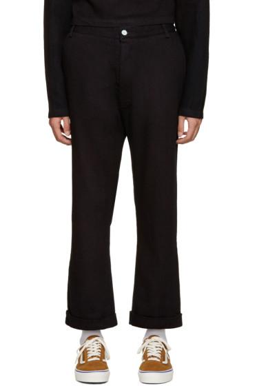 Sunnei - Navy Cotton Drill Trousers