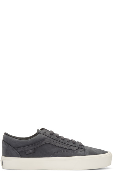 Vans - Grey Nubuck Old Skool Lite LX Sneakers