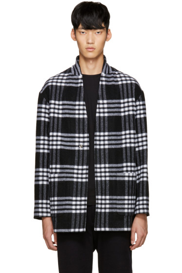 Tomorrowland - Black Wool Plaid Coat