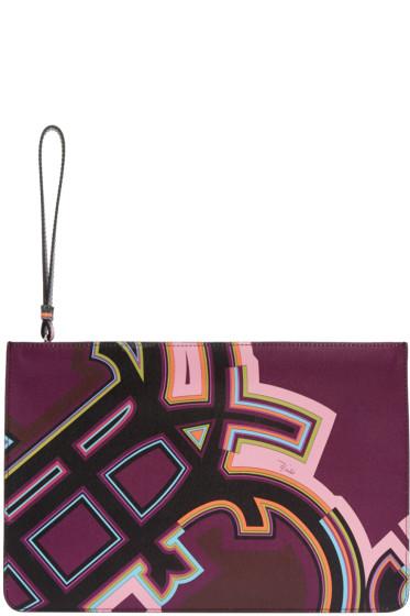 Emilio Pucci - Multicolor Graphic Logo Pouch