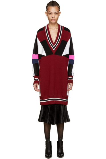 Emilio Pucci - Multicolor Colorblocked Sweater Dress