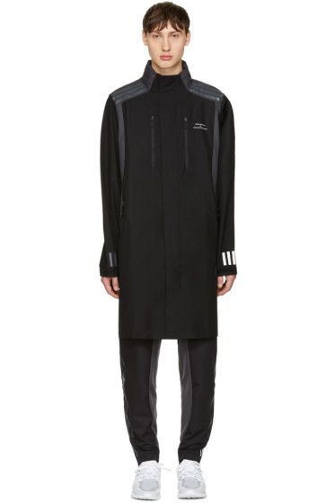 adidas x White Mountaineering - Black Long Nylon Coat