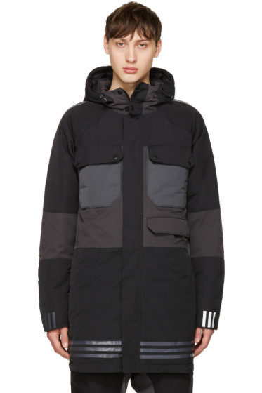 adidas x White Mountaineering - Black Down Hooded Jacket