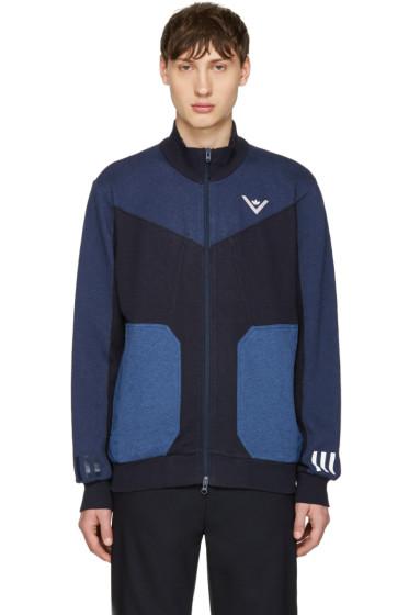 adidas x White Mountaineering - Navy Zip-Up Sweater