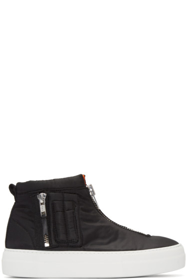 Joshua Sanders - Black Bomber High-Top Sneakers