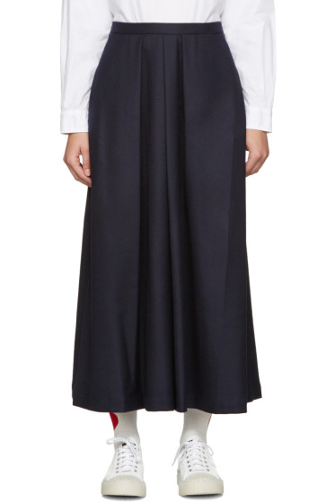 Blue Blue Japan - Navy Pleated Wool Trousers