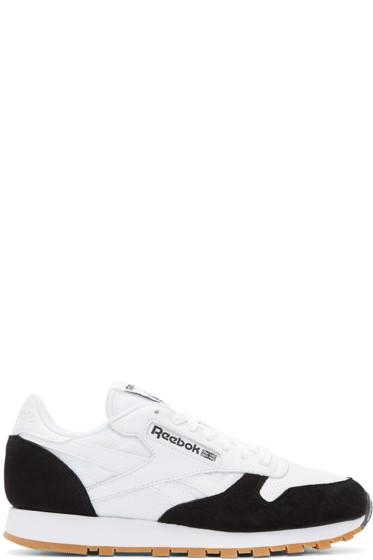 Reebok Classics - White & Black CL Sneakers